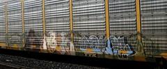 OBEK, DONER '01 (YardJock) Tags: art car train graffiti steel graf tracks railway holy roller freight rolling autorack