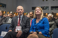 Michael Kloth and Catharina Elmsäter-Svärd at the Opening Plenary