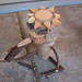 とてもキュートなカッパの手作り木製オーナメントの写真