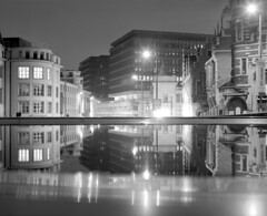 Brussels 4. (wojszyca) Tags: city longexposure brussels reflection building mamiya architecture night mediumformat fuji 14 bruxelles epson neopan 100 6x7 acros rz67 4990 ddx 110mm ilfotec