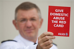 Give Domestic Abuse the Red Card (Greater Manchester Police) Tags: manchester football referee police redcard gmp britishpolice domesticabuse sendingoff sentoff ukpolice footballreferee euro2012 greatermanchesterpolice domesticabusecampaign unitedkingdompolice seniorpoliceofficer endthefear greatermanchesterdomesticabusehelpline assistantchiefconstablesteveheywood