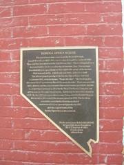 Eureka Opera House plaque (Mansley) Tags: nevada operahouse eureka eurekacounty