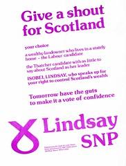SNP by-election Leaflet, 1978 (Scottish Political Archive) Tags: party scotland scottish lindsay national 1978 publicity campaign berwick byelection snp
