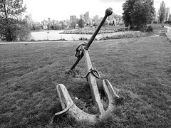 Vancouver anchor (Matthew Wild) Tags: canada vancouver bc britishcolumbia anchor kitsilano englishbay condos westend maritimemuseum