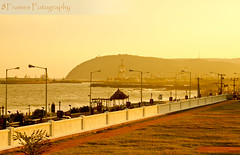 Vizag's Dolphin Nose (8Frames Fotography) Tags: sunset orange india beach nature beauty canon photography perspective hues efs southindia vizag andhrapradesh f3556 dolphinsnose beachphotography 18135mm vishakapattinam canoneos7d vishakapatanam