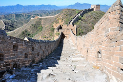 The Great Wall of China (Fisherss Zhang) Tags: china blue white mountain black mountains building brick tower history window grass rock stone wall forest asian outdoors ancient asia chinese beijing greatwall greatwallofchina mountainrange chineseculture jinshanling gettychinaq2 gettychina12q2