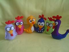 galinha pintadinha 001 (Arte Arteira - Feltro) Tags: feltro aniversário festas galo lembrancinha centrodemesa pesodeporta galinhapintadinha