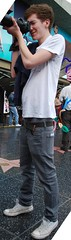 Skinny boy tourist sagging (Red Hat Boy) Tags: boy kid jeans sagger skinnyboy saggerboy