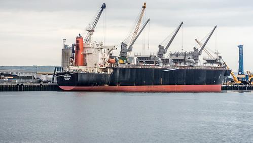Belfast Port - Ship Unloading