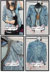 CJ87 WOMENS JACKET DENIM BLAZER METAL CHAIN BLUE NWT (angel-secret) Tags: blue metal nwt womens chain jacket denim blazer