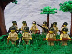 Americans ( 424) Tags: world 2 milan war lego wwii ii american ww2 squad custom axis platoon madge allies minifigure brickarms viking424