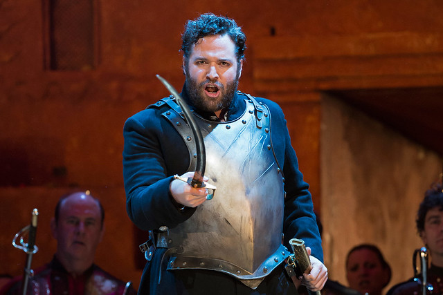 Bryan Hymel as Aeneas in David McVicar's production of Les Troyens. Photo by Bill Cooper © Bill Cooper/ROH 2012