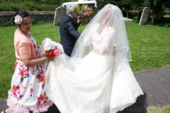 The Wedding of Mr & Mrs Chapman (ScouseTiegan) Tags: wedding church groom bride veil ceremony bridegroom matrimony
