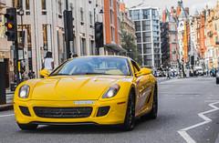 yellow ferrari gtb 599 worldcars