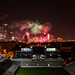 Fireworks over Bobby Dodd Stadium
