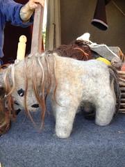 8/7.2012 - pony (julochka) Tags: horse felted toy viking jelling vikingmarket postcardtoblogcamp 366the2012edition illneverunderstandthedanes