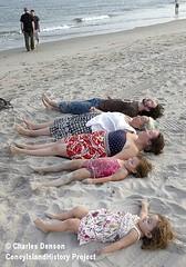 Guthrie family at Coney Island Beach, W 36th St (Coney Island History Project) Tags: coneyisland centennial billybragg steveearle 100thbirthday woodyguthrie centenary mermaidavenue coneyislandhistoryproject noraguthrie
