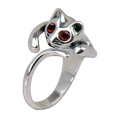 sterling silver cat ring (LennonLipeng) Tags: silver ring 925 catring redring sterlingsilverring silvercatring