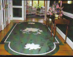 Rose Border Rug (ruglady1) Tags: handmaderugs customrug designerrugs woolrugs customcarpet decorativerugs contemporaryarearugs customarearugs handcraftedrugs rugrunners qualitylogorugs beautifullogorugs customrugdesign customlogorugs customcraftedrugs shagarearugs