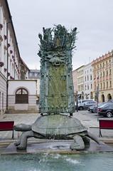 Arion fountain (The Adventurous Eye) Tags: fountain metal turtle ivan di sculptures arion olomouc architektura kana studiu arinova teimer archittectura