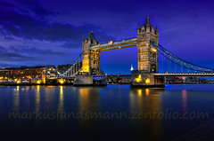 The Tower bridge with dark blue sky (mlphoto) Tags: street city travel bridge england urban london night towerbridge river cityscape nightscape pentax nacht unitedkingdom explore olympia bluehour sight brcke hdr themse longtimeexposure blauestunde flus pentaxk20d mlphoto mlphoto markuslandsmannzenfoliocom