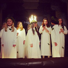 . (tsienni) Tags: winter light girl children vinter europe december candle sweden stockholm culture swedish lucia nordic sverige tradition scandinavia skansen svensk flicka luciatg hgtid luciafirande