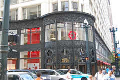 City Target, State and Madison (artistmac) Tags: red chicago building classic architecture carson scott logo louis store illinois discount state loop landmark il company architect madison target former sullivan carsons department grandopening pirie stateandmadison statemadison citytarget