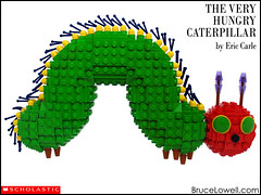 The Very Hungry Caterpillar (bruceywan) Tags: book eric lego very bruce caterpillar childrens hungry photostream carle lowell moc lowellsphere brucelowellcom