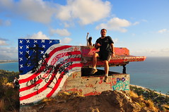 Jamie at First Bunker (XJCreations) Tags: sunrise hawaii oahu hiking lanikai bunkers pillboxes kawiaridge