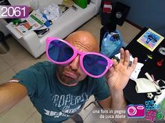 Foto in Pegno n° 2061 (Luca Abete ONEphotoONEday) Tags: occhiali selfie me desk ufficio 22 luglio 2016 2061