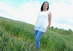 Styling a basic white top and denim: Marks & Spencer challenge - Michelle, The Barefaced Chic (Not Dressed As Lamb) Tags: white fashion blog top style blogger marks denim spencer fashionista