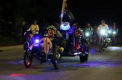 San Jose Bike Party Summer of Love Ride August 2016 (Richard Masoner / Cyclelicious) Tags: sanjosebikeparty summerofloveride august192016 cyclist cyclists bikeparty bikesj bicycle bicycles bikes sanjose cyclelicious bent recumbent gidm dj dancefloorlights discolights