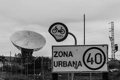 Big antenna in an urban zone (ymorenogut) Tags: motorbike communications antena telecom urbano limit speed parablicas byke seales cielo towers parabolic tower torres cartel sky moto antenna signs signals