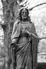 The Son (K.G.Hawes) Tags: art cemetery grave graves gravestone graveyard sculpture statuary stone stonework statue black white bw blackandwhite monochrome monochromatic bronze jesus metal