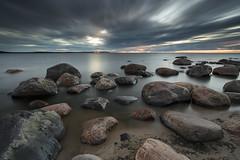 Getting Dark (Lauri Leesmaa) Tags: canon 6d ef 1740mm l f4 lee filter nd 09 long exposure beach sunset rocks seascape sea clouds meremisa lauri leesmaa estonia