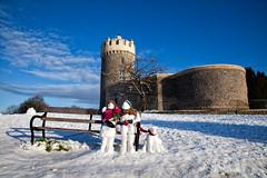 Mr & Mrs Snow (toasterjones) Tags: bristol clifton avongorge snow winter sculpture