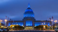 Blue Light City Hall (davidyuweb) Tags: blue light city hall san francisco sfist