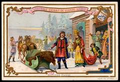 Liebig Tradecard S417 - A Russian Marriage (cigcardpix) Tags: tradecards advertising ephemera vintage liebig chromo wedding marriage