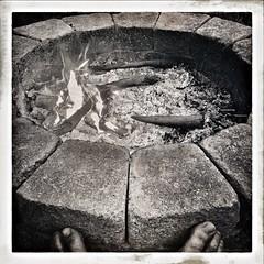 Keeping Toasty (Christian Stepien.com) Tags: 2016 stepien canada kawartha iphone black christian ontario sturgeonlake iphone6 summer blackandwhite cottage country white