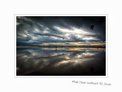Mind Chaos (Livesurfcams) Tags: sunset nightsky devon atlantic ocean nikon v1 sigma kitesurfer kites reflection moodyskies 1020 f35 wide angle