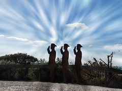 Soldier silhouettes at Fort Nepean (PsJeremy) Tags: silhouettes soldier landmark nikon coolpix