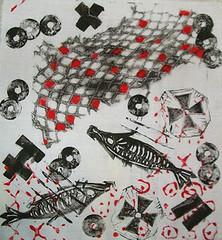 Judy McDowell: Fish Tale (julieboothclasses) Tags: judymcdowell totellastorywithcloth storycloth handstitching handapplique handpainting handprinting
