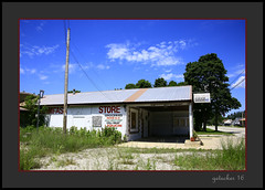 Germfask Trading Post (the Gallopping Geezer 3.8 million + views....) Tags: sign signage building structure ad advertise advertisement business germfask mi michigan upperpeninsula rural smalltown backroads country closed vacant wall hanging canon 5d3 tamron 28300 geezer 2016