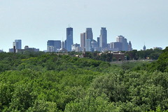 Minneapolis Skyline from the Fort Snelling Round Tower (Funkomaticphototron) Tags: coryfunk skyline minneapolis mn minnesota sky fortsnelling lookingwest afternoon forest trees woods outdoors urban