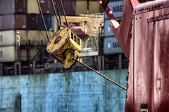 Barge Gear (PAJ880) Tags: boston ma conley terminal massport dock crane gear barge harbor