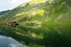 Chalet between the moutains (Mircea D GHEORGHE) Tags: trolled baleachalet mountainlake fagarasi romania balea reflection thelook