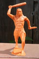 "6"" Caveman (Marx 1963) (Donald Deveau) Tags: caveman toys vintagetoy marx plastictoy prehistoric"