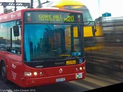 Sydney Buses - MetroBus Volvo ST2223 (Route M20 Gore Hill via Pacific Highway) crosses Sydney Harbour Bridge (john cowper) Tags: sydneybuses metrobus m20 gorehill pacifichighway sydneyharbourbridge sydneytrains waratahset sydney newsouthwales