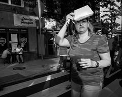 Roxborough - Night Market, 2016 (Alan Barr) Tags: philadelphia 2016 ridgeave roxborough street sp streetphotography streetphoto blackandwhite bw blackwhite mono monochrome candid people group fujifilm x70