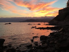 (000verthinking) Tags: rocks sky iphone nofilter mediterranean sea sunset colours ceuta
